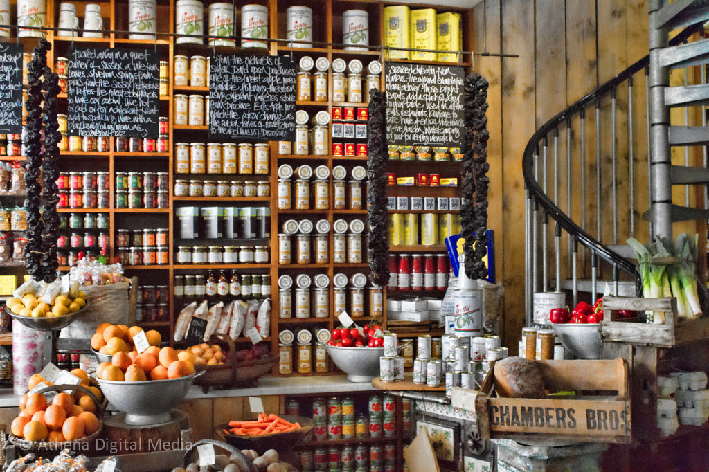 The wall at Bill's Restaurant, Lewes, East Sussex